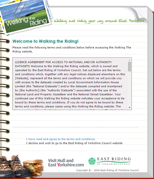 Walking the riding website